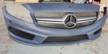2013 2014 2015 2016 mercedes benz w176 front bumper amg pp material new set