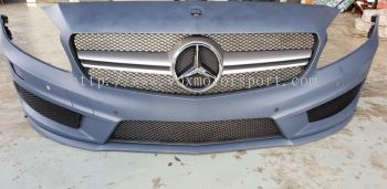 2013 2014 2015 2016 mercedes benz w176 front bumper amg a45 pp material new set