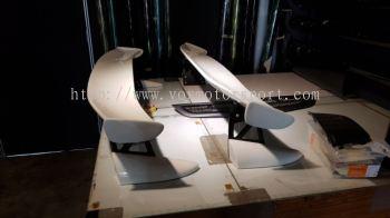 2007 2008 2009 2010 2011honda civic fd type r mugen gt wing spoiler white color new set
