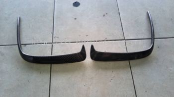 mercedes benz w176 a class amg rear bumper carbon side canard revo.