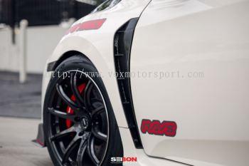 2016 2017 2018 Honda civic fc side fender side archer carbon print new