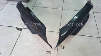 Bmw e90 msport front bumper splitter carbon new