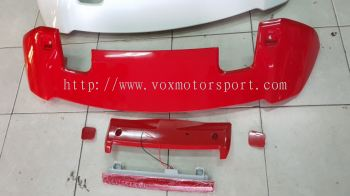2014 2015 2016 2017 2018 2019 2020 honda fit jazz gk rs spoiler add on upgrade performance look abs material new set