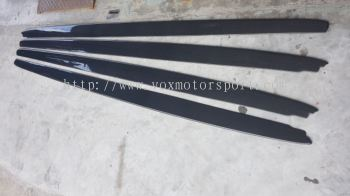 Bmw f10 m5 m sport mp style side skirt lip Carbon fiber