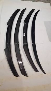 Bmw F10 m4 style rear trunk spoiler real carbon material new