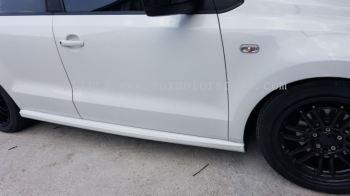 volkswagen polo sedan side skirt gti Style pp material new set
