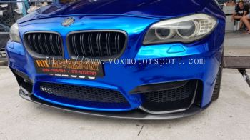 Bmw f10 front lip add on real Carbon fiber for m4 style front bumper new set