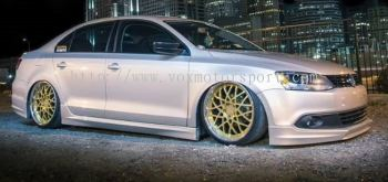 Volkswagen jetta bodykit voltex style side skirt pp material new set provide installation