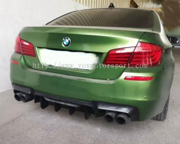 bmw f10 rear diffuser v2 style m5 msport replace upgrade performance look gloss black pp material new set