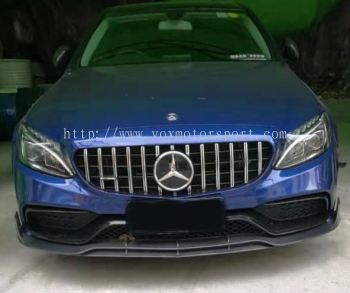 mercedes benz w205 brabus style c63 add on front lip diffuser real carbon fiber material new set