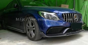 mercedes benz w205 bodykit c63 brabus style add on front lip diffuser real carbon fiber material new set