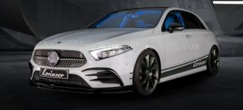 mercedes benz w177 amg a class bodykit add on font lip lorinser style gloss black pp material new set