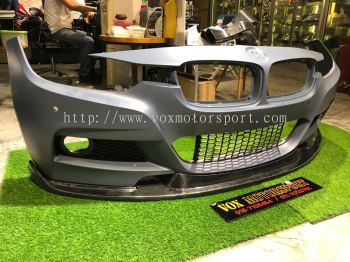 Bmw f30 hamann style front lip msport real carbon fiber material new set