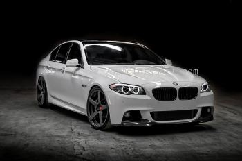 bmw f10 front lip vorsteiner style msport upgrade real carbon fiber material new set