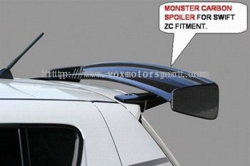 suzuki swift spoiler monster style for swift add on upgrade performance look real carbon fiber material new set