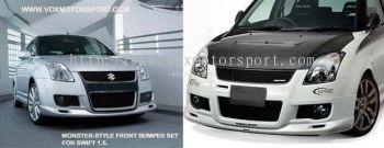 suzuki swift sport monster style front bumper for swift replace upgrade performance look frp material new set