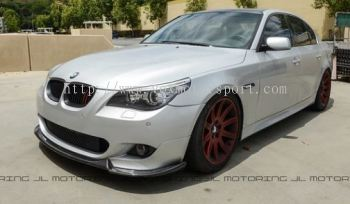 bmw e60 5 series front lip diffuser hartge style for m5 bumper add on upgrade performance look pu material new set