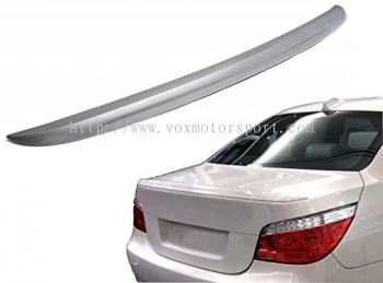 bmw e60 5 series trunk spoiler m5 style add on upgrade performance look real carbon fiber material new set