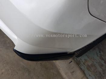 bmw e90 rear bumper diffuser splitters for e90 m3 rear bumper add on upgrade performance look matt black material new set