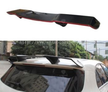 2018 2019 2020 2021 mercedes benz w177 rear roof spoiler a45 revozport style add on upgrade performance look real carbon fiber glass black material new set