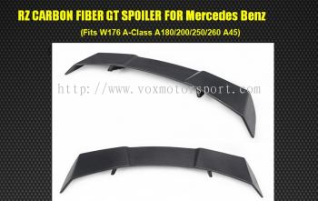 2013 2014 2015 2016 2017 2018 mercedes benz w176 spoiler revor style add on upgrade performance look real carbon fiber material new set