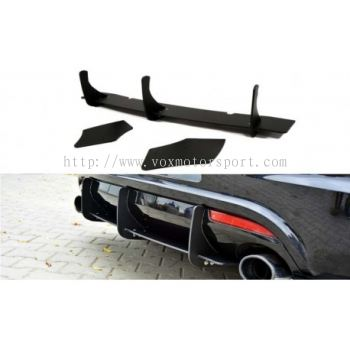 2010 2011 2012 2013 2014 2015 2016 2017 volkswagen scirocco rear bumper diffuser maxton style for scirocco r rear add on upgrade performance look black pp material new set