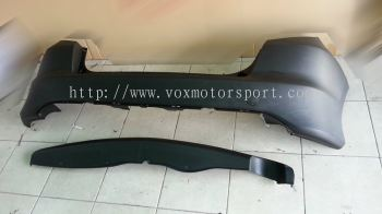 2008 2009 2010 2011 honda fit jazz ge6 rear bumper with diffuser rs style for ge replace upgrade performance look pp material new set