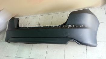 2008 2009 2010 2011 honda fit jazz ge6 rear bumper with diffuser rs for ge replace upgrade performance look pp material new set