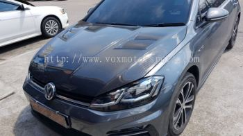 volkswagen golf mk7 carbon fiber bonet hood revozport style replace upgrade performance look carbon fiber material new set
