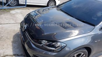 volkswagen golf mk7 revozport carbon fiber bonet hood replace upgrade performance look carbon fiber material new set