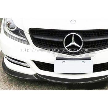 mercedes benz w204 c class front lip diffuser carbon fiber material new set