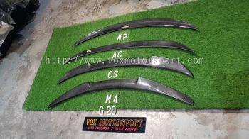 bmw 3series g20 boot trunk lip spoiler add on upgrade performance look carbon fiber material brand new set