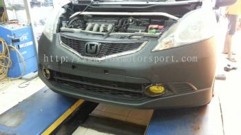 2008 2009 2010 2011 honda fit jazz ge bodykit rs style for ge replace upgrade performance look pp material new set