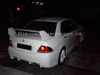 mitsubishi lancer cs3 bodykit rear bumper lip on diffuser