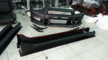 mitsubishi lancer ex gt bodykit varis pp material bumper and side skirting