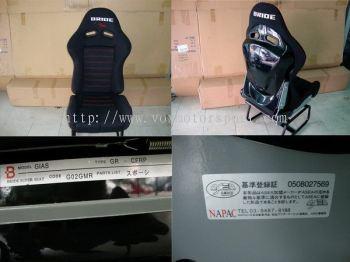 mitsubishi lancer cs3 sport seat bride gias lowmax black edition black back