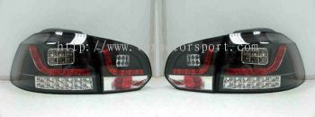volkswagen golf gti tail light led type r black housing