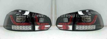 volkswagen golf gti tail light led type r black housing