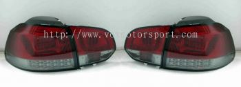 volkswagen golf gti mk6 tail light led type r red
