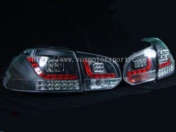 volkswagen golf mk6 tail light led type r black housing