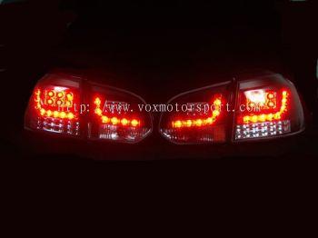 volkswagen golf gti mk6 tail light led type r black housing