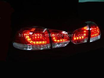 volkswagen golf gti mk6 tail light led type r red