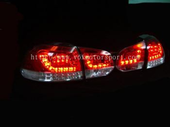 volkswagen golf mk6 tail light led type r red