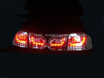 volkswagen golf gti mk6 tail light led type r chrome