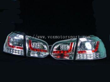 volkswagen golf mk6 tail light led type r chrome
