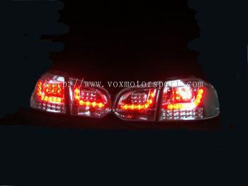 volkswagen golf gti mk6 tail light led type r chrome
