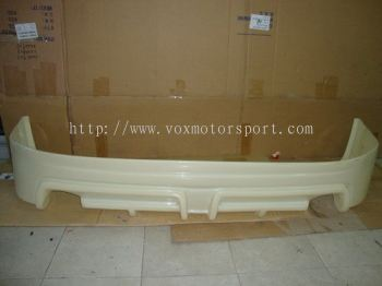new honda city bodykit mugen RR bumper rear lip on