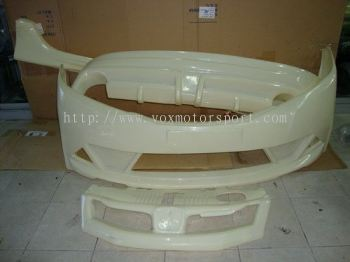 new honda city bodykit mugen RR bumper front and lip on