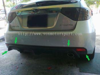 subaru impreza gh rear bumper diffuser