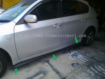 subaru impreza hatch back gh side v lip.